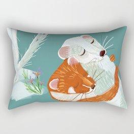 Weasel hugs Rectangular Pillow