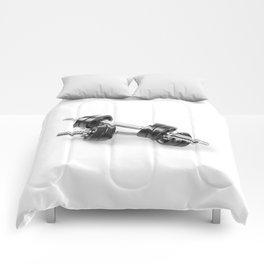 Chrome shiny hand barbells Comforters