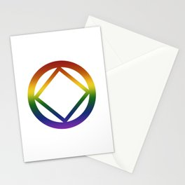 Narcotics Anonymous Rainbow Pride Symbol Stationery Cards