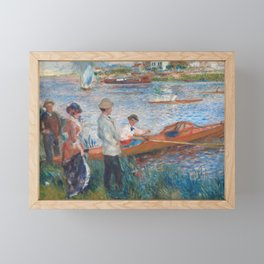 Oarsmen at Chatou Painting by Auguste Renoir Framed Mini Art Print
