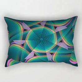 Tumbling patterns, fractal abstract art Rectangular Pillow