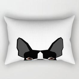 Boston Terrier head peeking cute dog gifts funny must haves boston terriers Rectangular Pillow
