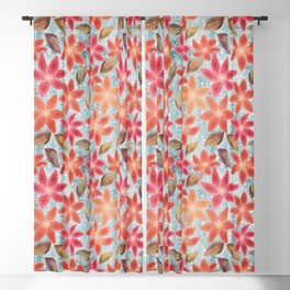Cute Lilies and Leaves Blackout Curtain