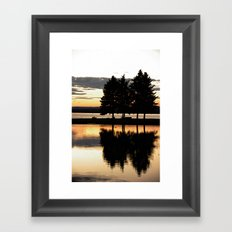 Evening Walk in the Park Framed Art Print