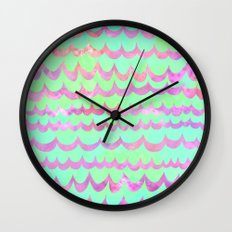 WAVES - Pastel Wall Clock