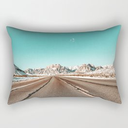 Vintage Desert Road // Winter in the Mojave of Las Vegas at Red Rock Canyon National Park Rectangular Pillow