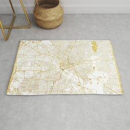 Dallas Map Gold Rug