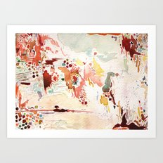 Red Watercolor  Art Print