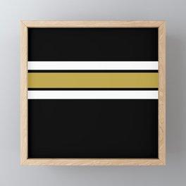 TEAM COLORS 2....Gold Framed Mini Art Print