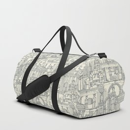 Ancient Greece indigo pearl Duffle Bag