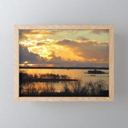 Finnihs Sunset Framed Mini Art Print