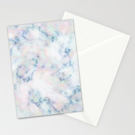 Motley Blue Marble Gem Stone Stationery Cards