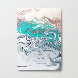The liquid marble beach Metal Print
