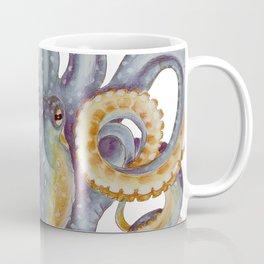 Octopus Tentacles Steel Blue Watercolor Art Coffee Mug