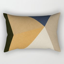 DARK VANILLA,YANKEES BLUE,DECOR,MINIMAL,PALE TAUPE,PERU TRIANGLES,SMOKY BLACK,GEOMETRIC,AZTEC GOLD Rectangular Pillow