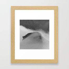 AIGUILLE DU PLAN, CHAMONIX Framed Art Print