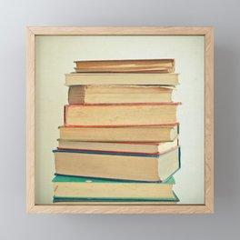 Stack of Books Framed Mini Art Print