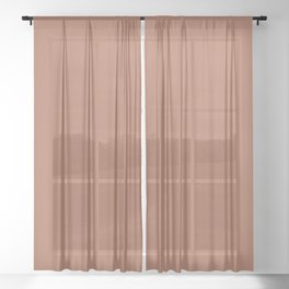 Rich Chocolate Brown Solid Color Pairs With Sherwin Williams 2020 Trending Color Cavern Clay SW7701 Sheer Curtain