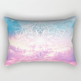Star Mandala Unicorn Pastel Clouds #3 #decor #art #society6 Rectangular Pillow