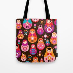 Russian Dolls illustration pattern print Tote Bag