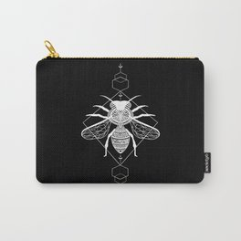 Bee | White and Black Carry-All Pouch