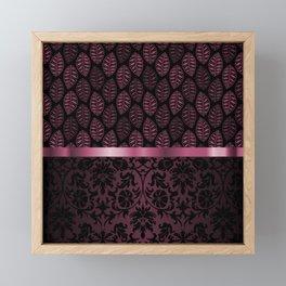 Pink Tint Skeleton Leave Pattern Framed Mini Art Print