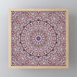 Pink Spiritual Garden Mandala Framed Mini Art Print