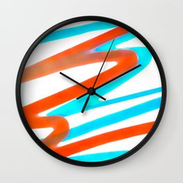 Colored Abstrac Print Design Wall Clock