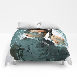 007 paint art Comforters