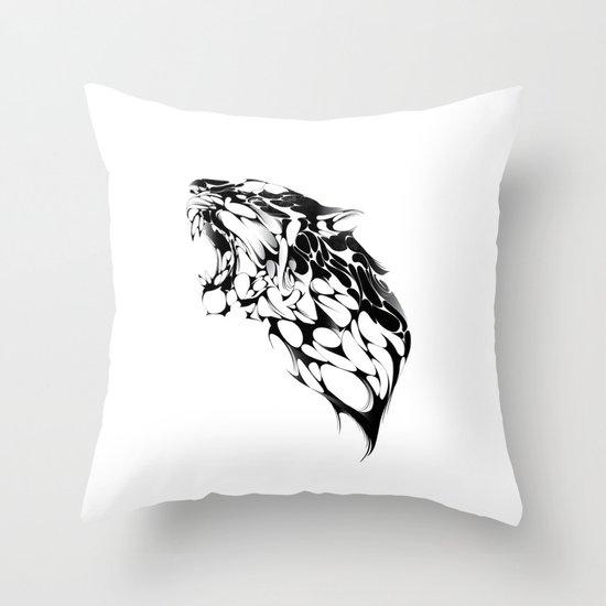 Tiger Growl Throw Pillow