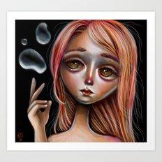 Water Master Pop Surreal Illustration Art Print