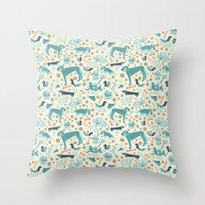 Park Dogs Throw Pillow