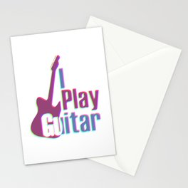 I Play Guitar Colorful Stationery Cards