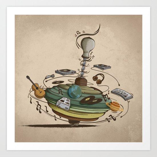 Music Spin Art Print
