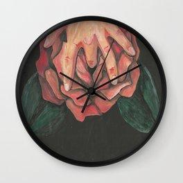 Hands Down Wall Clock
