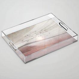 Positive sunset II Acrylic Tray