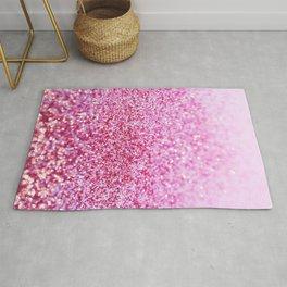 Pink Mermaid Glitter Glam #1 (Faux Glitter) #shiny #decor #art #society6 Rug