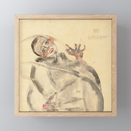 "Egon Schiele ""I Will Gladly Endure for Art and My Loved Ones"" Framed Mini Art Print"
