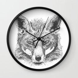 Skeptical Fox Wall Clock
