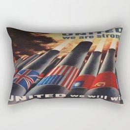 Vintage poster - Allies Rectangular Pillow