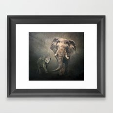 Moonlight Trek Framed Art Print