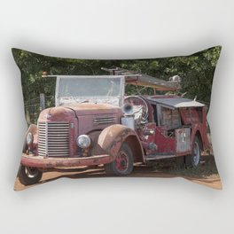 Antique Fire Truck Rectangular Pillow