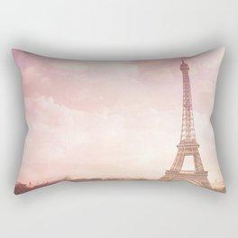 Paris in Pink Rectangular Pillow