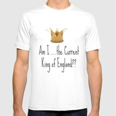 Am I the current King of England? Sherlock Mens Fitted Tee MEDIUM White