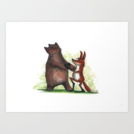Bear & Fox Art Print