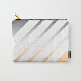 White Striped Gradient Carry-All Pouch