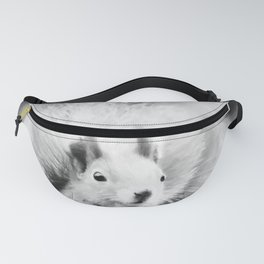 squirrel digital oil paint dopbw Fanny Pack