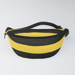 Yellow and Black Honey Bee Horizontal Cabana Tent Stripes Fanny Pack