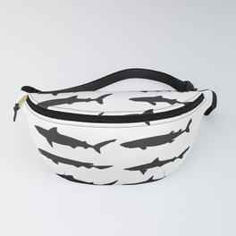 Shark Silhouettes Fanny Pack
