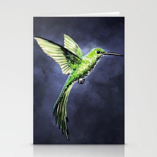 Green Hummingbird Stationery Cards